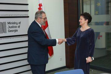 იუსტიციის მინისტრმა საბერძნეთის ელჩი მიიღო