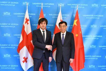 ირაკლი კობახიძე ჩინეთის სახალხო რესპუბლიკის სახალხო პოლიტიკური საკონსულტაციო კონფერენციის ვიცესპიკერს შეხვდა