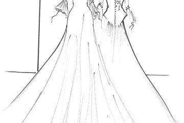 პრინც ჰარის საცოლის საქორწილო კაბების სავარაუდო ესკიზები