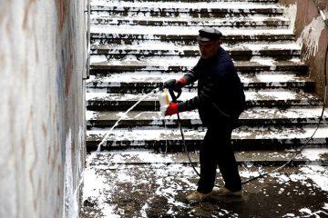წინამძღვრიშვილის ქუჩაზე მდებარე მიწისქვეშა გადასასვლელის დასუფთავება დაიწყო