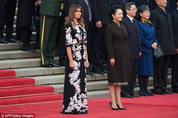 მელანია ტრამპს პეკინში, ჩინურ მოტივებზე შექმნილი კაბა ეცვა (ფოტოამბავი)