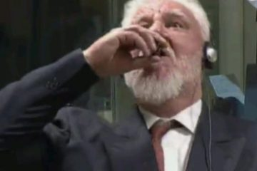 ჰააგის სასამართლოზე ხორვატმა გენერალმა ვერდიქტის გამოცხადების შემდეგ საწამლავი დალია