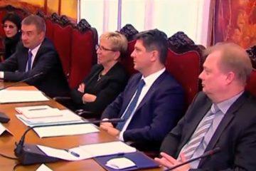 """ევროპის საბჭოს საპარლმენტო ასამბლეის წარმომადგენლები """"ენმ""""-ს წევრებს შეხვდნენ"""