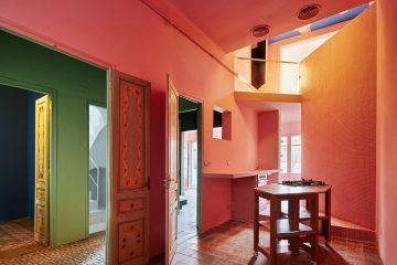 ფერადი სახლი ბარსელონაში