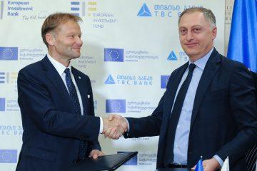თიბისი ბანკმა EIB ჯგუფთან 94 მილიონი ევროს ღირებულების ხელშეკრულებას მოაწერა ხელი