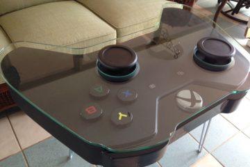 გიგანტური X-Box-ის სამართავი პულტის მაგიდა