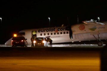 ვარშავის აეროპორტში თვითმფრინავი წინა შასის გარეშე დაეშვა