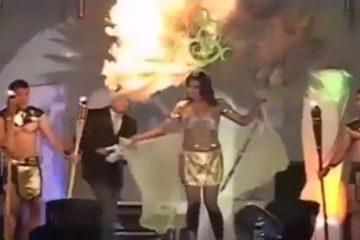 ვიდეო: სილამაზის კონკურსის მონაწილეს სცენაზე ცეცხლი წაეკიდა