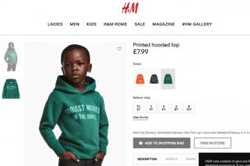 H&M-ი რასიზმისთვის ბოდიშს იხდის