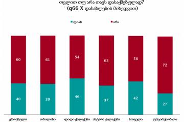 NDI-ის კვლევის თანახმად გამოკითხულთა 60% თვლის, რომ დასაქმებული არ არის