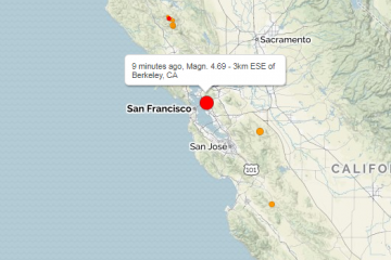 სან-ფრანცისკოსთან 4,5 მაგნიტუდის სიმძლავრის მიწისძვრა მოხდა
