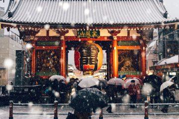 გადათეთრებული ტოკიოს ქუჩები