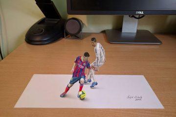 თვითნასწავლი მხატვარი, რომელიც საოცარ 3D ნახატებს ჰქმნის