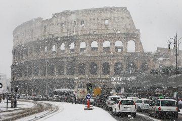 რომში ულამაზესი თოვლია
