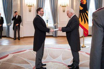 საქართველოს ელჩმა გერმანიის ფედერაციული რესპუბლიკის პრეზიდენტს რწმუნებათა სიგელები გადასცა