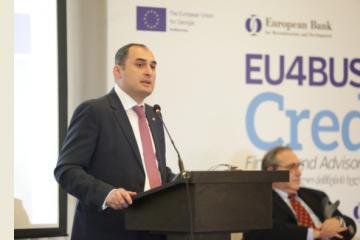 დიმიტრი ქუმსიშვილმა ევროკავშირის დელეგაციას მცირე და საშუალო ბიზნესის განვითარების მიზნით გაწეული სამუშაოს შედეგები გააცნო