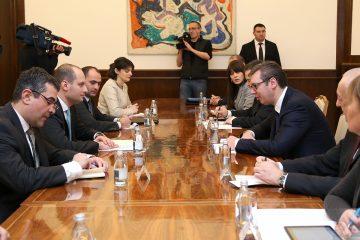 მიხეილ ჯანელიძე სერბეთის პრეზიდენტს შეხვდა