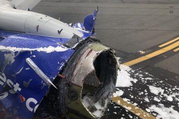 თვითმფრინავის ძრავის აფეთქებას ერთი ადამიანის სიცოცხლე ემსხვერპლა