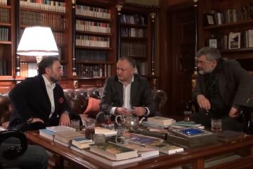 თბილისში მოლდოვის პრეზიდენტს ლევან ვასაძე მასპინძლობს