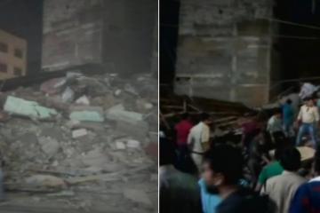 ინდოეთში შენობის ჩამონგრევას 10 ადამიანი ემსხვერპლა