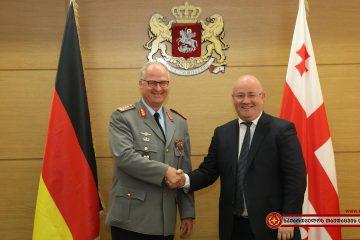 თავდაცვის უწყება გერმანიის გენერალური შტაბის უფროსს მასპინძლობს