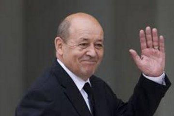 საფრანგეთის რესპუბლიკის საგარეო საქმეთა მინისტრი ჟან-ივ ლე დრიანი  საქართველოს ეწვევა