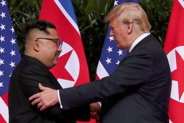 აშშ-ს პრეზიდენტ დონალდ ტრამპსა და ჩრდილოეთ კორეის ლიდერ კიმ ჩენ ინს შორის ისტორიული შეხვედრა შედგა