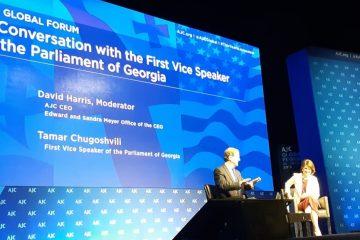 თამარ ჩუგოშვილი: მნიშვნელოვანია, რომ საქართველოს მუდმივი მხარდაჭერა ჰქონდეს, როგორც ამერიკის შეერთებული შტატების, ასევე ისრაელის სახელმწიფოს მხრიდან