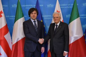 ირაკლი კობახიძე იტალიის რესპუბლიკის პრეზიდენტს შეხვდა