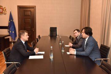 ირაკლი კობახიძე საქართველოში ევროპის საბჭოს ოფისის ხელმძღვანელს შეხვდა