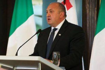 პრეზიდენტი: იტალიამ მთელი მსოფლიოს გასაგონად, ყველაზე ძლიერი სამხედრო ალიანსის ტრიბუნიდან დააფიქსირა საქართველოში რუსული ოკუპაციის მიუღებლობა