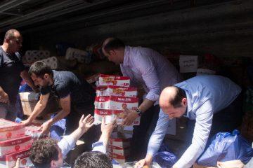 სოფელ ჭუბერში დაზარალებულთა დასახმარებლად 14 ტონა ტვირთი გაიგზავნა