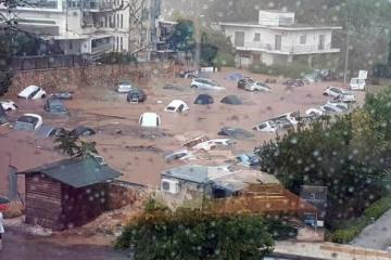საბერძნეთის ზოგიერთ რაიონში ძლიერი წვიმის გამო წყალდიდობაა