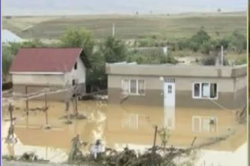 სოფელი კრწანისი ადიდებულმა წყალმა დატბორა