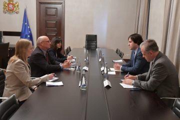 ირაკლი კობახიძე საქართველოში აშშ-ის საერთაშორისო განვითარების სააგენტოს (USAID) მისიის ხელმძღვანელს, პიტერ უიბლერს შეხვდა