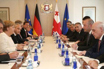საქართველოს პრემიერ-მინისტრსა და გერმანიის ფედერაციული რესპუბლიკის კანცლერს შორის გაფართოებული ფორმატის შეხვედრა გაიმართა