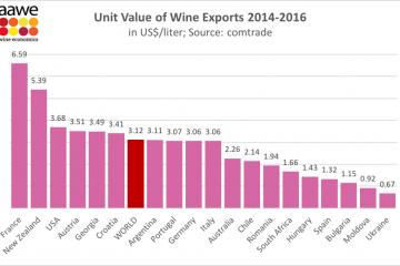 ქართული ღვინის საექსპორტო ფასით მსოფლიოში მე-5 ადგილს იკავებს