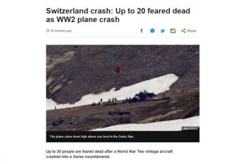 შვეიცარიაში ვინტაჟური თვითმფრინავის ჩამოვარდნას მსხვერპლი მოჰყვა
