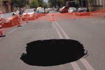თბილისში, ჩიტაიას ქუჩაზე გზის სავალი ნაწილი ჩაინგრა