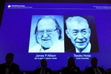 ჯეიმს ალისონმა და  ტასუკუ ჰონჯომ კიბოს მკურნალობაში მიღწეული პროგრესისთვის ნობელის პრემია მიიღეს