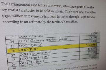 Washington Post: კრემლი ცხინვალს სანქციების თავის არიდებისათვის იყენებს