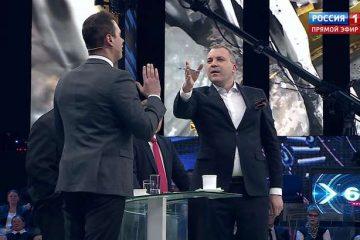 «России-1» წამყვანმა უკრაინელი პოლიტოლოგი სტუდიიდან გააგდო (ვიდეო)