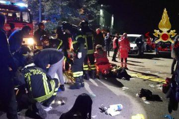 იტალიაში, ღამის კლუბში ჭყლეტისას 6 ადამიანი დაიღუპა (ვიდეო)