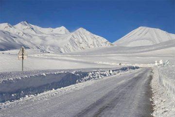 თოვლისა და ყინულის გამო, გზებზე შეზღუდვებია