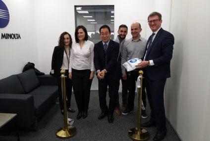 Konica Minolta-სპირველი ოფისი  2019  წლის 12 ნოემბერს თბილისში ოფიციალურად გაიხსნა