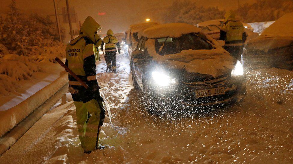 დიდთოვლობა ესპანეთში (ფოტოები)