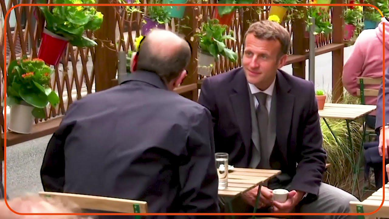 """პარიზი – ემანუელ მაკრონი """"დილის ყავაზე"""" (ვიდეო)"""